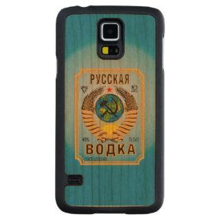 ロシアのなウォッカのブランドのボトルのラベル CarvedチェリーGalaxy S5スリムケース