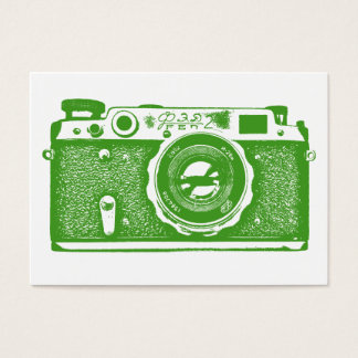 ロシアのなカメラ-白のアボカドの緑 名刺