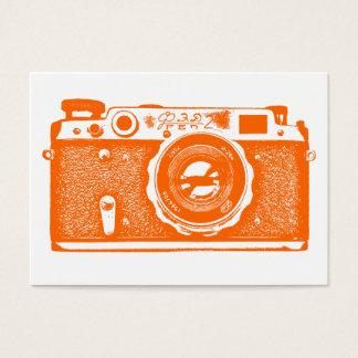 ロシアのなカメラ-白のオレンジ 名刺