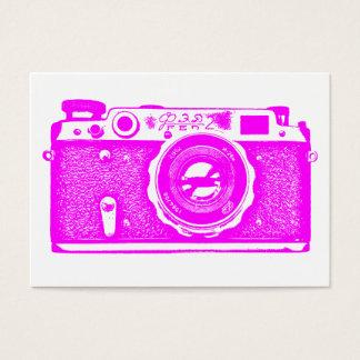 ロシアのなカメラ-白のマゼンタ 名刺