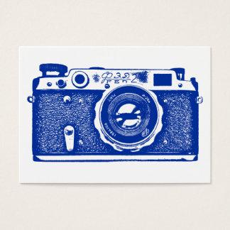 ロシアのなカメラ-白の濃紺 名刺