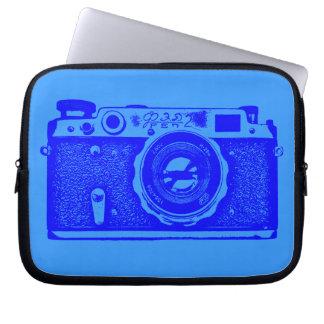 ロシアのなカメラ-青の色合い ラップトップスリーブ