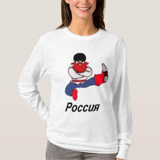 ロシアのなコサックのダンサー Tシャツ