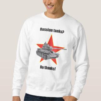 ロシアのなタンクか。 いいえ、結構です。! ジャンパー スウェットシャツ