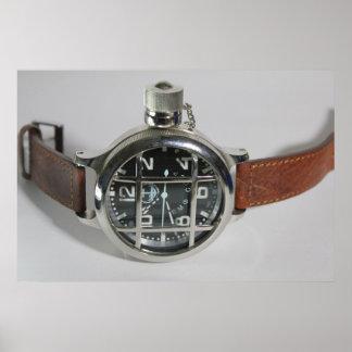 ロシアのなダイバーの腕時計 ポスター