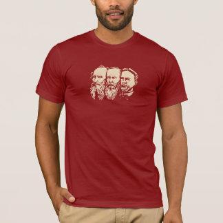 ロシアのなトロイカ: Tolstoy、Dostoevsky、チェコフ Tシャツ