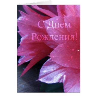 ロシアのなバースデー・カード、Schlumbergera カード