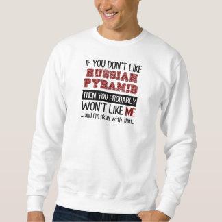 ロシアのなピラミッドのカッコいいを好まなければ スウェットシャツ