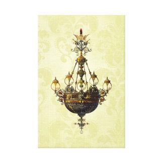ロシアのなヴィンテージのアンティークのシャンデリア キャンバスプリント