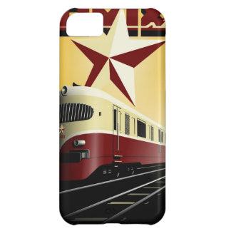 ロシアのなヴィンテージの共産主義の鉄道ポスター iPhone5Cケース