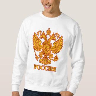 ロシアのな二重先頭に立たれたワシの紋章のスエットシャツ スウェットシャツ