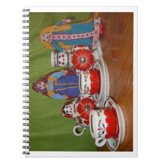 ロシアのな人形の茶時間 ノートブック