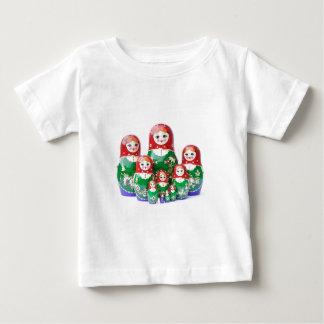 ロシアのな人形Matryoshka - матрёшка ベビーTシャツ