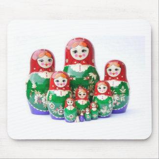 ロシアのな人形Matryoshka - матрёшка マウスパッド