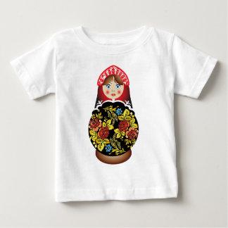 ロシアのな人形Matryoshka ベビーTシャツ