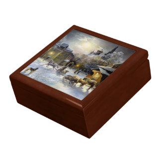 ロシアのな冬の絵画の装身具箱 ギフトボックス