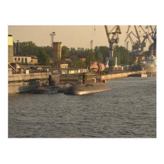 ロシアのな原子力潜水艦 ポストカード