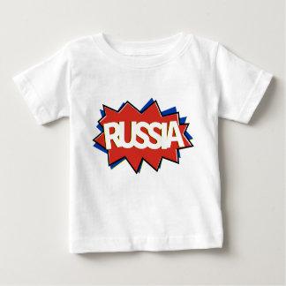 ロシアのな旗の星の破烈 ベビーTシャツ