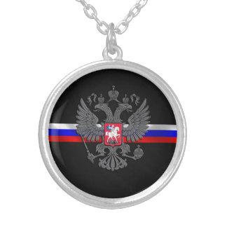 ロシアのな紋章付き外衣 シルバープレートネックレス