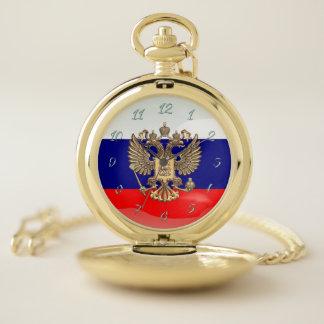 ロシアのな紋章付き外衣 ポケットウォッチ