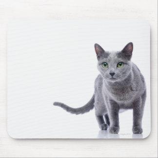 ロシアのな青猫 マウスパッド