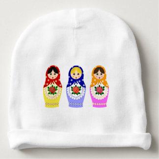 ロシアのなmatryoshkaの人形のベビーの帽子 ベビービーニー