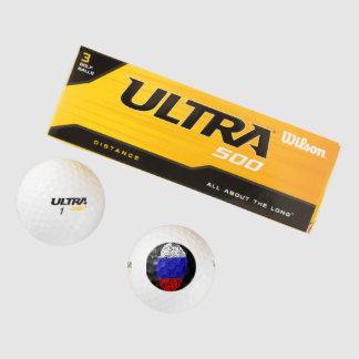 ロシアのなtouchの指紋の旗 ゴルフボール