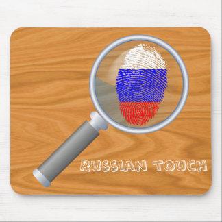 ロシアのなtouchの指紋の旗 マウスパッド