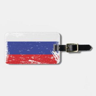 ロシアのグランジな旗 バッグタグ