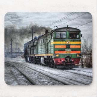 ロシアの列車機関車 マウスパッド