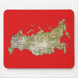ロシアの地図のマウスパッド マウスパッド