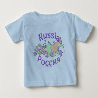 ロシアの地図 ベビーTシャツ