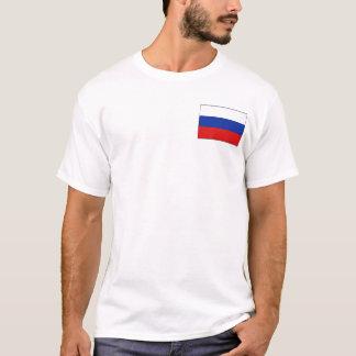 ロシアの旗および地図のTシャツ Tシャツ