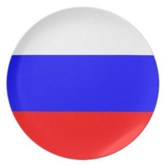 ロシアの旗のプレート プレート