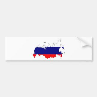 ロシアの旗の地図 バンパーステッカー