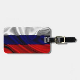 ロシアの旗の生地 ラゲッジタグ