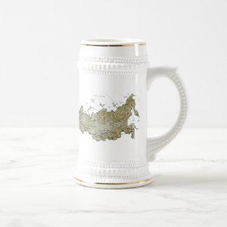 ロシアの旗の~の地図のマグ ビールジョッキ