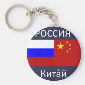 ロシアの旗-中国の旗 キーホルダー
