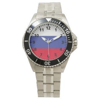 ロシアの旗 腕時計