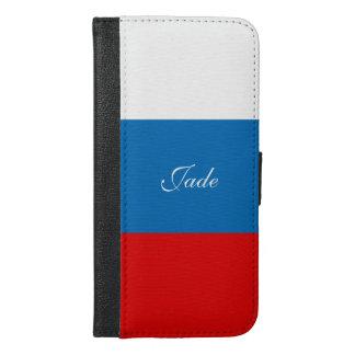 ロシアの旗 iPhone 6/6S PLUS ウォレットケース