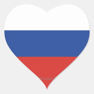ロシアの明白な旗 ハートシール