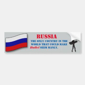 ロシアの男らしいバレエのステッカー バンパーステッカー