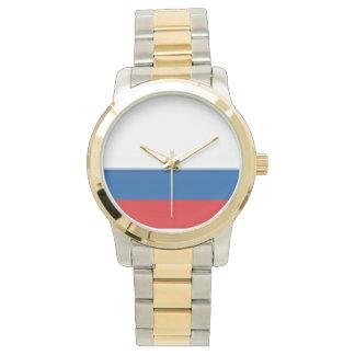 ロシアの金ゴールドおよび銀製の調子の腕時計 腕時計