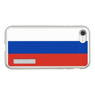 ロシアの銀製のiPhoneの場合の旗 Incipio DualPro Shine iPhone 8/7ケース