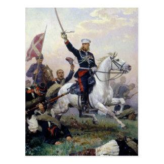 ロシアトルコの概要のM.D. Skobelev ポストカード