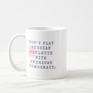 ロシアンルーレットのコーヒー・マグを遊ばないで下さい コーヒーマグカップ
