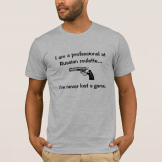 ロシアンルーレットのプロフェッショナル Tシャツ