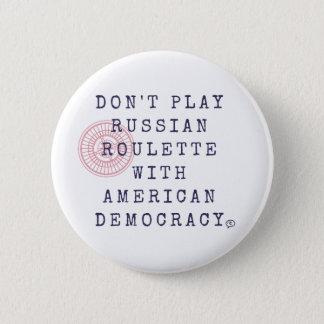 ロシアンルーレットボタンを遊ばないで下さい 5.7CM 丸型バッジ