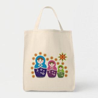 ロシア人のMatryoshkaの人形のバッグ トートバッグ