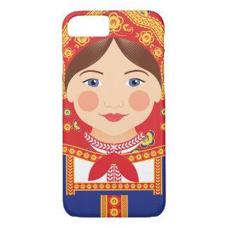 ロシア人のMatryoshkaの例 iPhone 8/7ケース